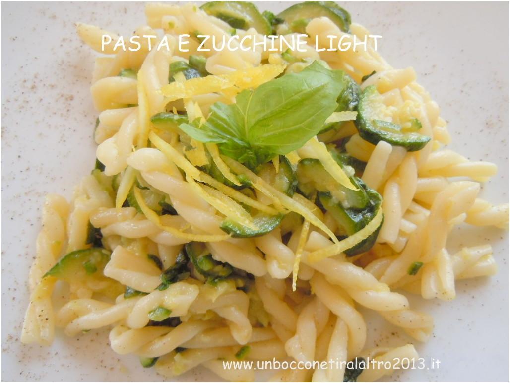 Pasta e zucchine light