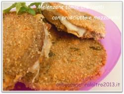 Melenzane tonde con prosciutto e mozzarella