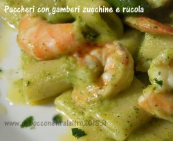Paccheri con gamberi e _zucchine