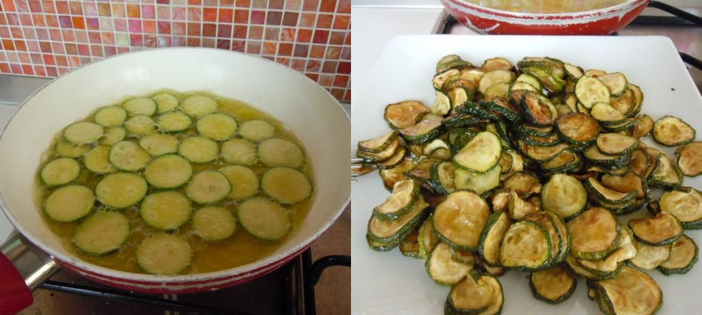 Paccheri con gamberi zucchine e rucola