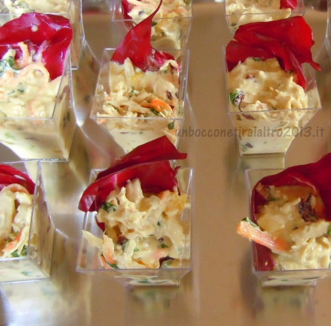 Insalata di pollo finger food un boccone tira l 39 altro for Finger food ricette