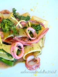 Pasta calamari e broccoli