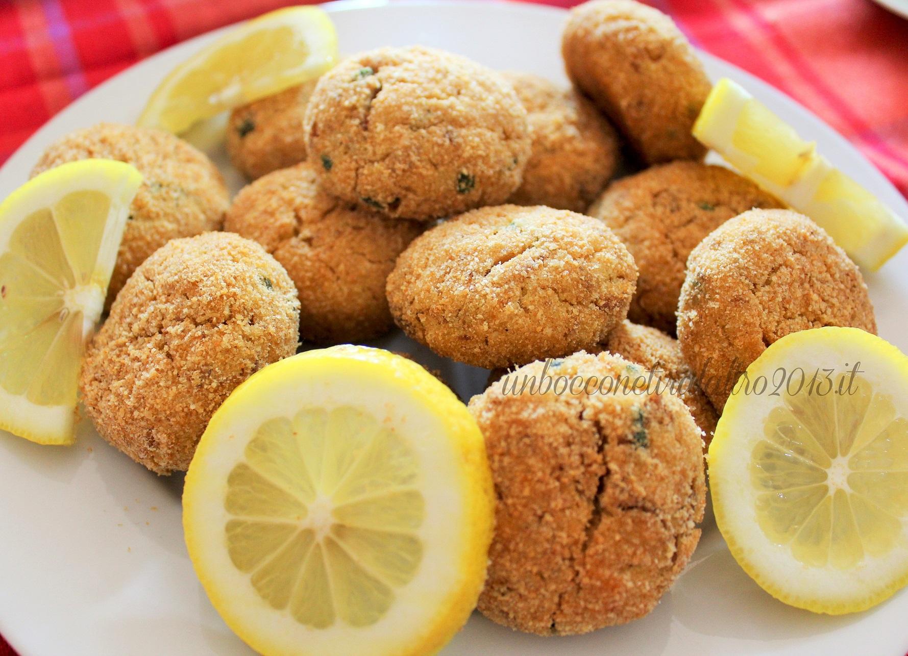 polpette di tonno al limone