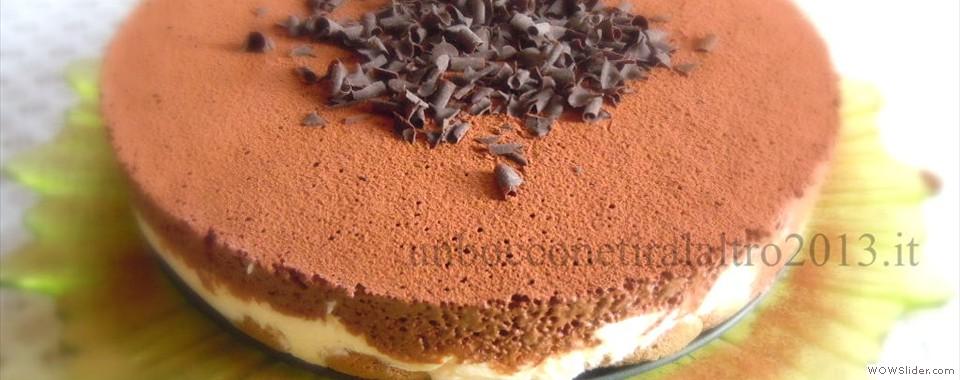 Tiramisù con mousse al cioccolato fondente
